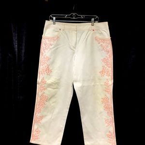 Carlisle embroidered jeans, size 14